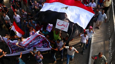Overhead-view-of-protestors-in-Cairo-Egypt