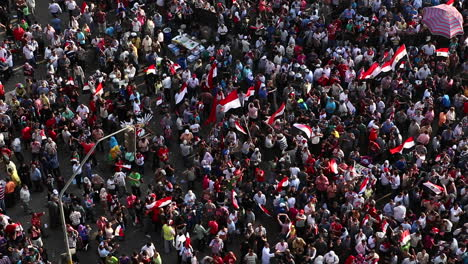 Overhead-view-of-protestors-in-Cairo-Egypt-4