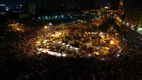 Overhead-view-of-demonstrators-in-Tahrir-Square-in-Cairo-Egypt