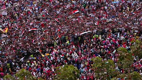 Overhead-view-of-a-large-rally-in-Tahrir-Square-in-Cairo-Egypt
