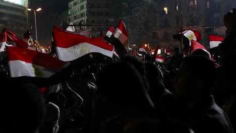 Protestors-wave-flags-at-a-large-nighttime-rally-in-Cairo-Egypt