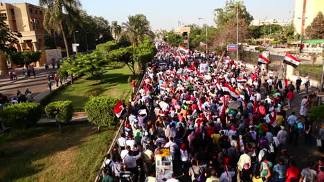 A-large-protest-march-in-Cairo-Egypt