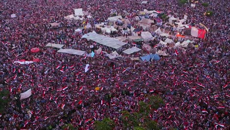 Overhead-view-as-protestors-jam-Tahrir-Square-in-Cairo-Egypt