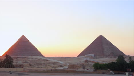 Sunrise-behind-the-great-pyramids-of-Giza