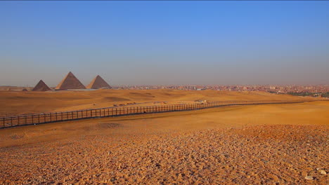 The-pyramids-of-Egypt-are-seen-at-a-distance