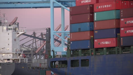 Goods-Are-Stacked-In-A-Container-Ship-At-Los-Angeles-Harbor