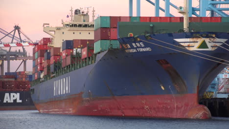 Goods-Are-Stacked-In-A-Container-Ship-At-Los-Angeles-Harbor-2