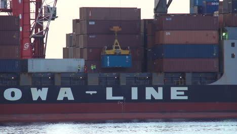 Cargo-Is-Stacked-On-A-Container-Ship-For-International-Shipping