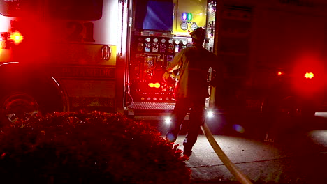 Firetrucks-Use-Water-From-A-Fire-Hydrant-During-The-Holiday-Fire-In-Goleta-California