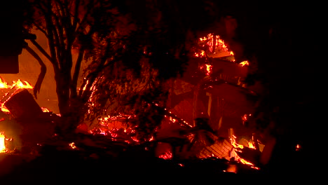 The-Smoldering-Ruin-Of-A-House-Which-Burned-At-Night-During-The-Holiday-Fire-In-Goleta-California