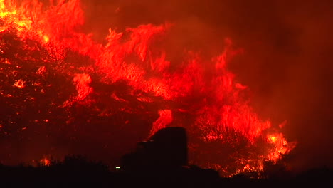 The-Thomas-Fire-Inferno-Burns-At-Night-In-The-Grass-Above-The-101-Freeway-Near-Ventura-And-Santa-Barbara-California