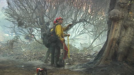 Fire-Crews-Mop-Up-Around-A-Burned-And-Charred-Home-Following-The-Destructive-Thomas-Fire-1