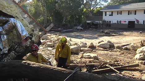 Fire-Crews-Inspect-Damage-From-The-Mudslides-In-Montecito-California-Following-The-Thomas-Fire-Disaster-10