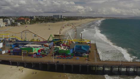 Aerial-Of-Abandoned-Closed-Santa-Monica-Pier-During-Covid19-Corona-Virus-Outbreak-Epidemic-1