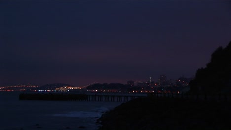 A-Spectacular-View-Of-The-San-Francisco-Skyline-At-Night-From-Across-San-Francisco-Bay