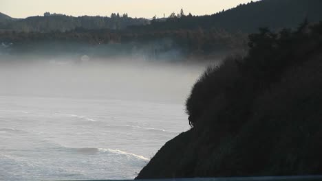 As-Mist-Rises-Above-The-Ocean-Near-The-Shore-Nature-S-Brilliant-Colors-Become-As-Soft-And-Subtle-As-A-Watercolor