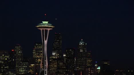 A-Spectacular-Aerial-View-Of-Seattle-S-Space-Needle-At-Night