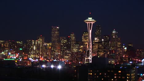 Seattle-Glitters-At-Night-With-The-Landmark-Space-Needle-A-Crowning-Jewel