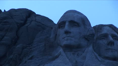 A-Serene-Focused-George-Washington-Looks-Out-From-Mt-Rushmore