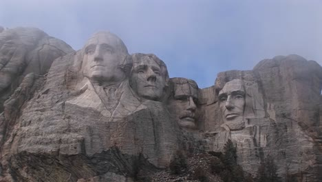 A-Look-Up-At-Mt-Rushmore-Before-All-The-Mist-Has-Dissipated