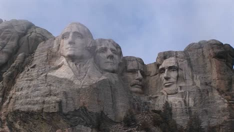Different-Views-Of-Mt-Rushmore-On-A-Cloudy-Day
