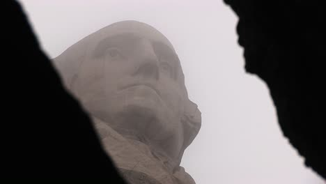 An-Artistic-Framing-Of-George-Washington-By-The-Camera-At-Mt-Rushmore