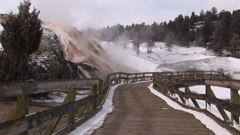 A-Tourists-Walkway-Passes-A-Number-Of-Hot-Springs-In-Yellowstone-National-Park