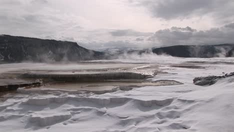 A-Panoramic-View-Of-Steamy-Hot-Springs-In-Winter