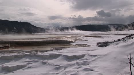 Wide-Shot-Of-A-Hot-Springs-Terraces-In-Winter