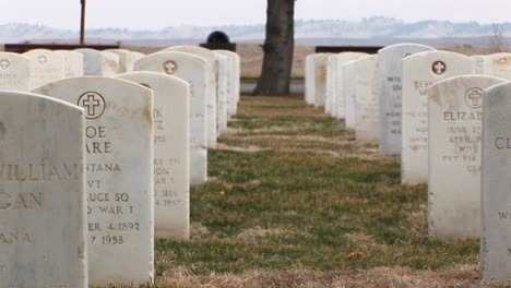 White-Marble-Headstones-Show-Men-And-Women-From-All-Parts-Of-The-Country-Are-Buried-In-This-Military-Cemetery