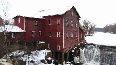 A-Classic-Old-Mill-With-Waterwheel