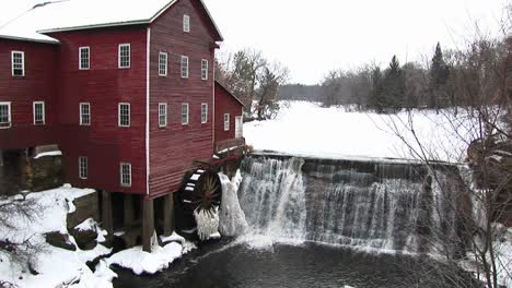 Ice-Immobilizes-An-Old-Gristmill-S-Waterwheel
