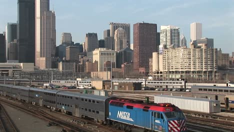 A-Passenger-Train-Heads-Out-Of-Chicago
