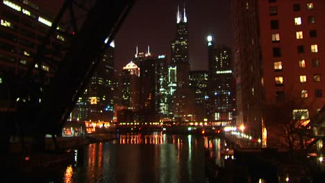 A-Beautiful-Night-Shot-Of-Chicago-S-Downtown-Buildings-From-Across-The-Water