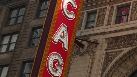 The-Camera-Pans-Down-The-Chicago-Theater-S-Colorful-Marquee