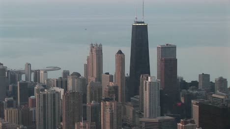 A-Cloudy-Day-For-An-Aerial-Shot-Of-Chicago-S-Skyscrapers