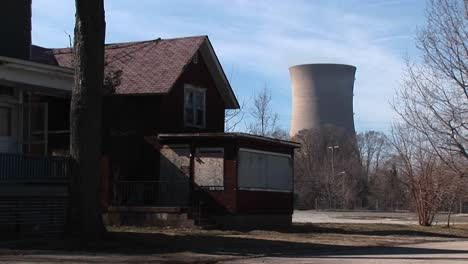 A-Boarded-Up-Home-Located-Near-A-Nuclear-Power-Plant