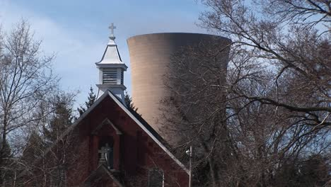 A-Church-Is-Located-Close-To-A-Nuclear-Power-Plant