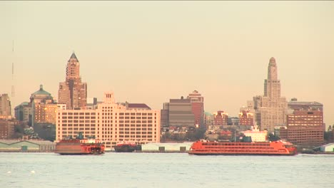 Sightseeing-Boats-Pass-Each-Other-Enroute-To-Their-Respective-Destinations-In-New-York