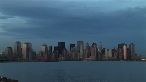 The-New-York-Skyline-Surrounded-By-Hues-Of-Blue