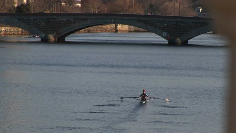 A-Longshot-Of-A-Person-Sculling-Down-The-Charles-River