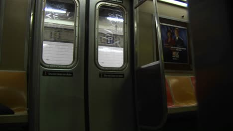 The-Subway-Train-Doors-Close-And-The-Train-Leaves-The-Price-Street-Station