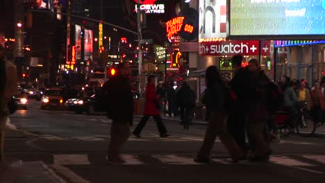 A-Colorful-Night-Scene-In-Downtown-New-York