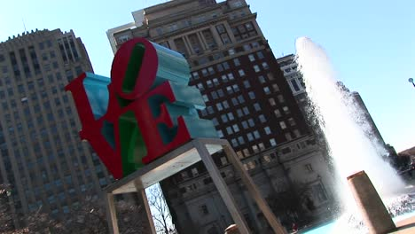 "The-Love""""-Sculpture-Is-Prominent-In-This-Shot-Of-Center-City-Philadelphia"""""