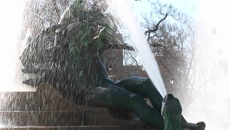 Close-Up-Of-A-Water-Fountain-In-Downtown-Philadelphia