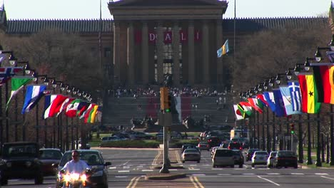 The-Philadelphia-Museum-Of-Art-Is-Located-At-The-End-Of-Colorful-Benjamin-Franklin-Parkway