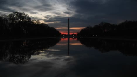 At-Goldenhour-Nature-Creates-A-Perfect-Mirror-Image-Of-The-Washington-Monument-And-Its-Environs