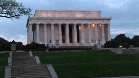 A-Jogger-Passes-In-Front-Of-The-Historic-Lincoln-Monument-In-Washington-Dc