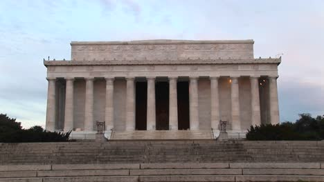 A-Medium-Shot-Of-Lincoln-Monument-In-Washington-Dc