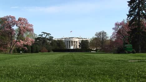 A-Long-Shot-Of-The-White-House-And-Its-Beautifully-Landscaped-Yard